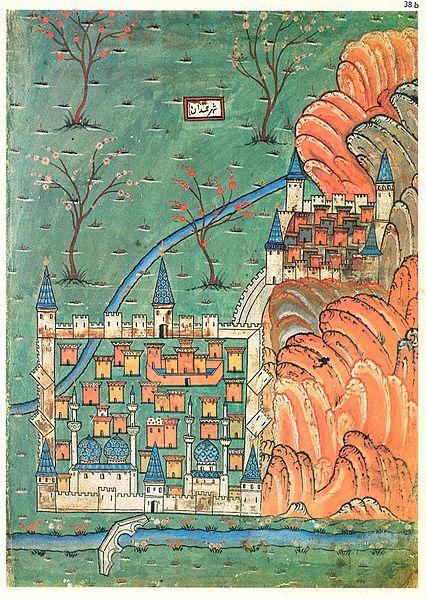 نقشه قرن شانزدهم همدان