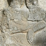 Detail from a Sassanid relief on the incoronation of Ardashir showing a defeated Julian.