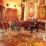 A carpet shop in Grand Bazaar, Isfahan