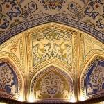 Interior decorations, colorful plasterwork