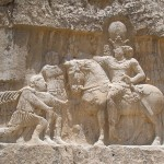 The triumph of Shapur I over the Roman Emperor Valerian, and Philip the Arab.