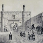 Sketch of gate of Tabriz, Eugène Flandin 1841.