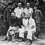 Ghirshman's team in Sialk in 1934; seated from R to L: Roman Ghirshman, Tania Ghirshman, and Dr. Contenau.