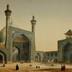Shah Mosque. Painting by the French architect, Pascal Coste, visiting Persia in 1841