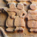 Female musicians accompanying king during hunting