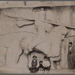 An old photo taken at Taq-e Bostan during late Qajar period