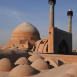 Nizam al – Mulk dome and minarets of southern eyvan