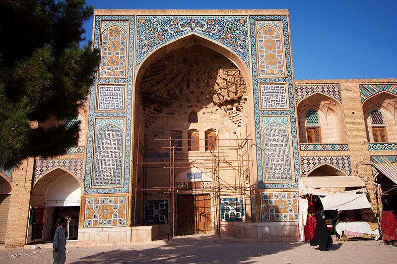 درگاه ورودی کاروانسرای گنجعلی خان