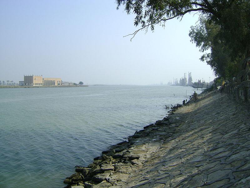 اروند رود نزدیک بصره عراق
