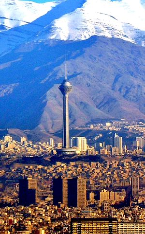Sattarkhan_Buildings_and_Milad_Tower