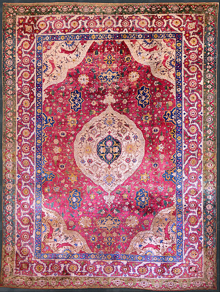 453px-Unknown,_Iran,_mid-16th_Century_-_The_Rothschild_Small_Silk_Medallion_Carpet_-_Google_Art_Project