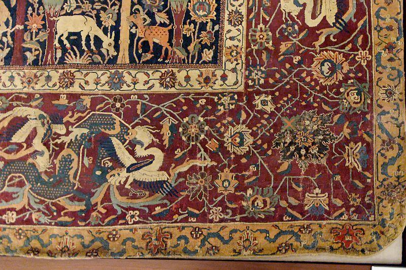 800px-Mantes_carpet_Louvre_OA6610_detail1