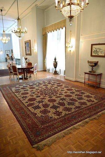 A_masterpiece_by_Mohammad_Seirafian_furnishing_the_Niavaran_Palace_(residence_of_Mohammad_Reza_Shah_Pahlavi,_Shah_of_Iran)