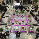 Traditional setting for Nowruz at a mall in Tehran, Iran