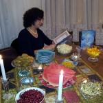 Persian Lady recites Hafez poems in Yalda Night