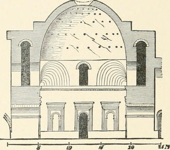 Restored_Plan_Palace_of_Ardashir_Firuzabad_Iran_1905