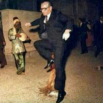 Mohammad Reza Pahlavi, the last monarch of Iran, jumping over fire