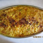 Mirza Qasemi: Grilled eggplant with egg and garlic.
