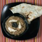 Kashk e bademjan: Mixture of kashk and eggplant.