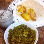 Baqala qatoq: Gilak stew with fava bean, dill, and eggs.