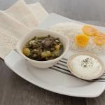 Khoresh e karafs: Stewed celery and meat.