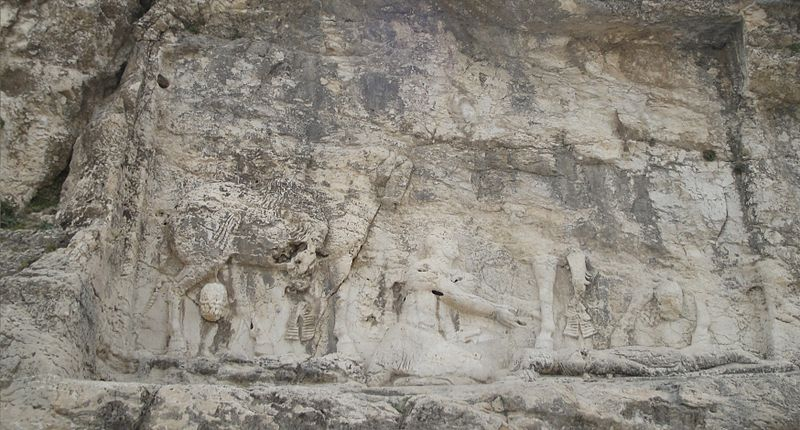 Investiture and victory relief of Shapur I , Tang-e Showgan