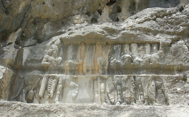 Victory relief of Bahram II over the nomadic Arabs, Tang-e Showgan