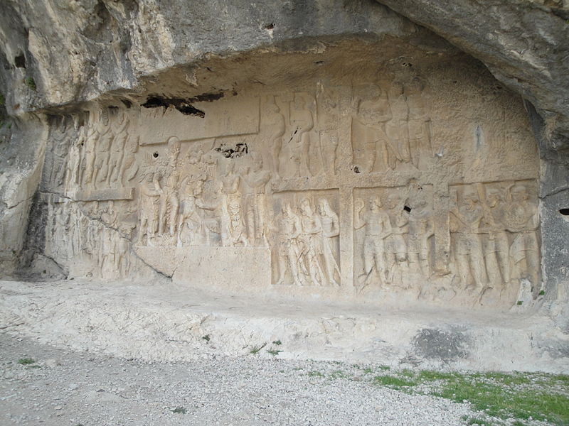 Victory relief of Shapur I , Tang-e Showgan