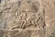 Equestrian relief of Bahram II , Naqsh-e Rustam
