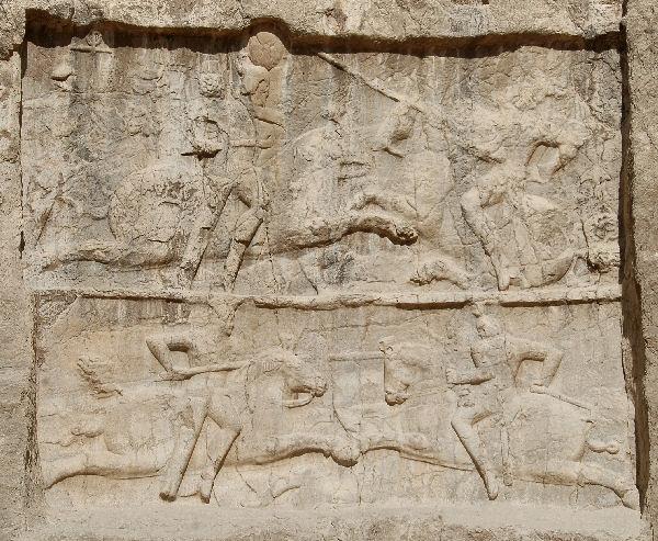 Double equestrian relief of Bahram II , Naqsh-e Rustam
